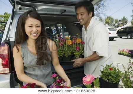 Couple Loading Plants