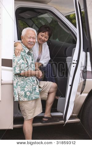 Couple in RV