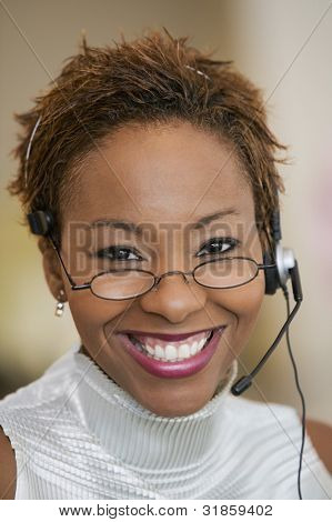 Customer Service Representative mit headset