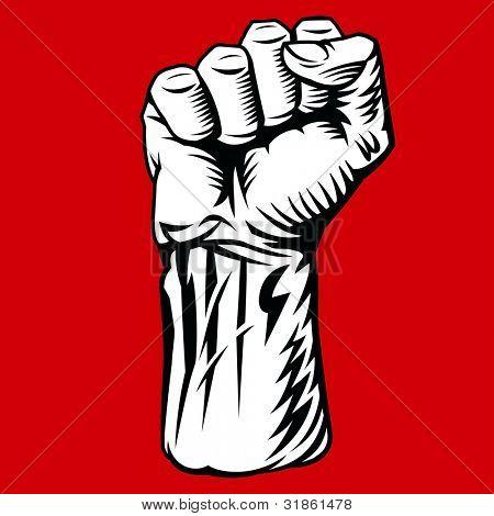 Struggle Hand Symbol. Rasterized version