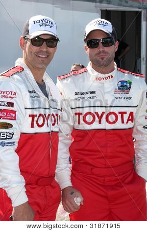 LOS ANGELES - APR 3:  Eddie Cibrian, Brody Jenner at the 2012 Toyota Pro/Celeb Race Press Day at Toyota Long Beach Grand Prix Track on April 3, 2012 in Long Beach, CA