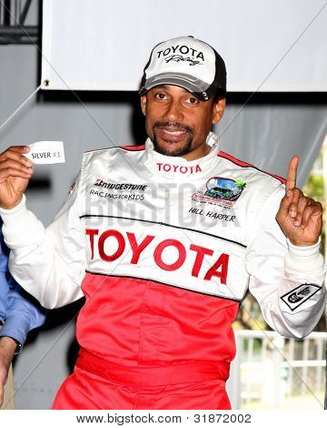 LOS ANGELES - APR 3:  Hill Harper at the 2012 Toyota Pro/Celeb Race Press Day at Toyota Long Beach Grand Prix Track on April 3, 2012 in Long Beach, CA
