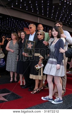 LOS ANGELES - APR 5:  Adam West, Family at the Adam West Hollywood Walk of Fame Star Ceremony at Hollywood Blvd. on April 5, 2012 in Los Angeles, CA