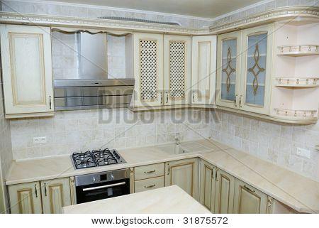 Elegant kitchen in a modern house