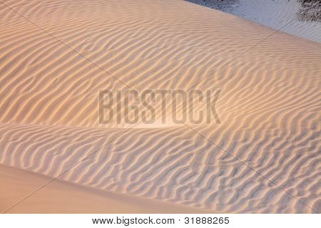 Sand desert surface of white dunes of Socotra island
