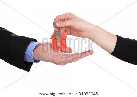 Concluding contract of sale isolated on white