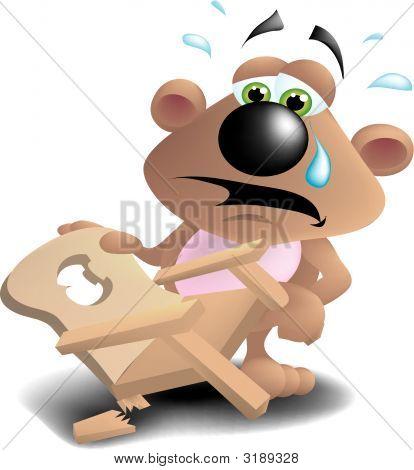 Baby Bear Finds Broken Chair