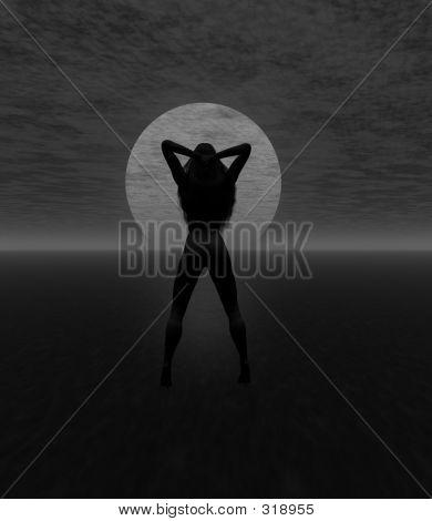 Silhouette Gray Scale