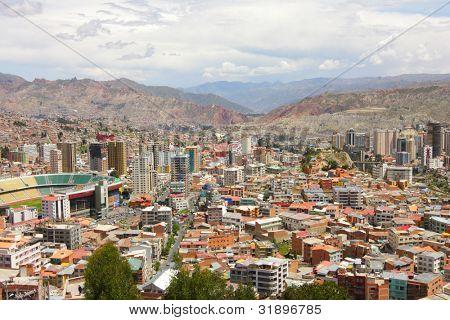 General view of La Paz, Bolivia