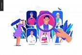 Find A Doctor -medical Insurance Illustration -modern Flat Vector Concept Digital Illustration - A H poster