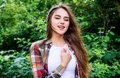 Beauty Cosmetics Product. Stunning Beauty. Woman Beautiful Long Hair Nature Background. Skin Hair Ca poster