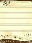 Постер, плакат: Музыка ноутбука шаблон