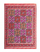 picture of tabriz  - Arabian silk carpet on white background - JPG
