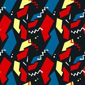 Abstract Seamless Pattern With Graphyc Elements, Modern Abstract Shapes.   Avant-garde Collage Style poster