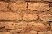 Historic Sun-Dried Brick Wall Background