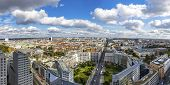 Panoramic Aerial View Of Berlin City Center, Germany. Skyline View Of Berlin Downtown From Skyscrape poster