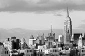 stock photo of new york skyline  - Manhattan Financial District skyline of Lower Manhattan NYC - JPG
