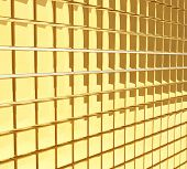 stock photo of gold glitter  - Golden cubes glossy wall background - JPG