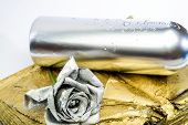 Forging And Sculpture. Silver Metal. Romantic Date. Birthday Gift. Silver Fashion. Alcohol Drink. Lu poster
