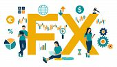 Fx. Foreign Exchange Market. Global Financial Market. Stock Exchange. Forex Banking. Financial Manag poster