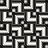 Vector Geometric Lines Seamless Pattern. Modern Linear Texture With Squares, Stripes, Chevron, Tiles poster