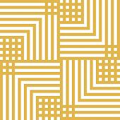 Vector Geometric Lines Seamless Pattern. Modern Linear Texture With Squares, Stripes, Chevron, Repea poster