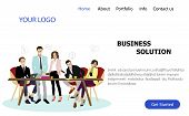 Business Solution Service Landing Page. Business Solution Website, Marketing And Development, Confid poster