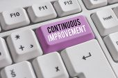 Word Writing Text Continuous Improvement. Business Concept For Ongoing Effort To Improve Products Or poster