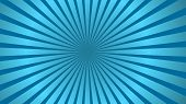 Sun Rays Background. Blue Radiate Sun Beam, Burst Effect. Sunbeam Light Flash Boom. Template Poster  poster