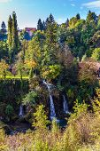 The small Croatian town of Slunj. Numerous picturesque waterfalls of the Korana River and the Slunci poster