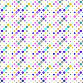 Multicolor Circle Pattern Background - Abstract Multicolored Vector Design From Circles poster