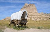 stock photo of covered wagon  - covered wagon - JPG