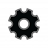 Gear Icon Isolated Black On White Background, Gear Icon Vector Flat Modern, Gear Icon, Gear Icon Eps poster