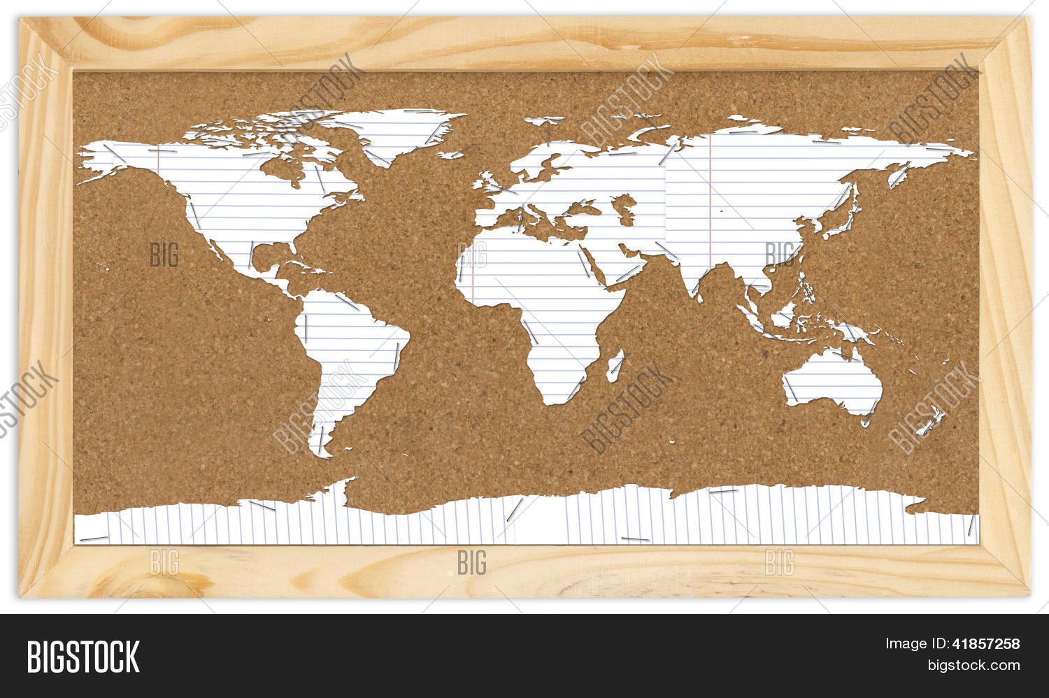 World Map On Corkboard Photo and Images – Cork Board World Travel Map