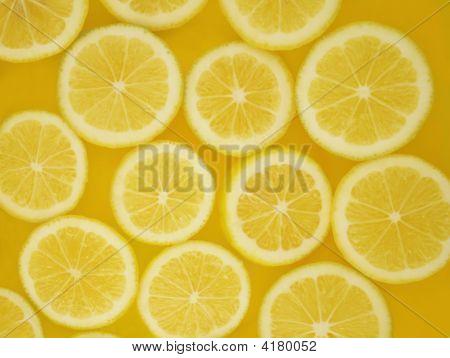 Lemon Cirlcles Background
