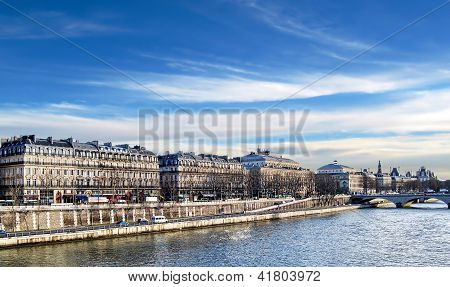 Walking Along The Seine, Paris.