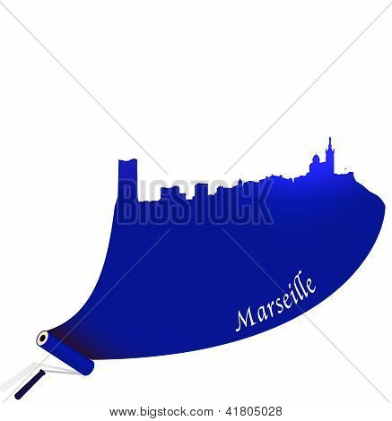 Vector Marseille illustration