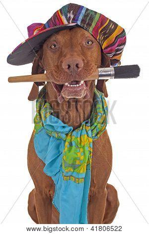 Painter Artist Dog