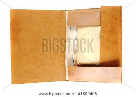 Old Top Secret Folder With Documents