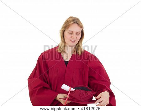 Female Student With Degree