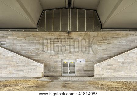 Digital background for studio photographers. Marble building. Outdoor.