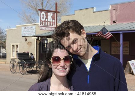 A Young Couple At The O.k. Corral, Tombstone