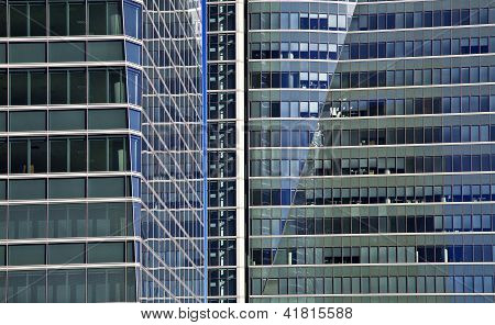 Blue Glass High Rise Building Skyscrapers