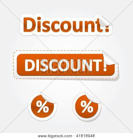 Set Of Discount Bent Stickers And Labels