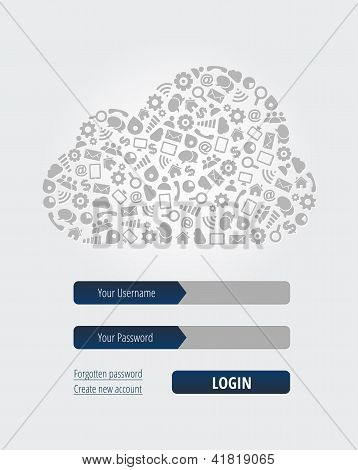Cloud Computing Login Form