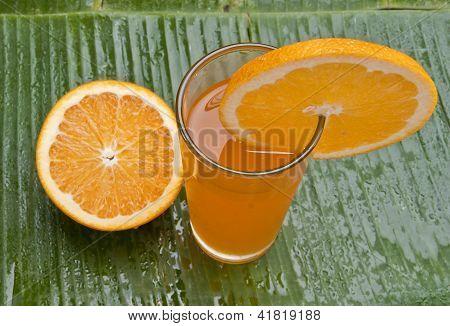 fresh healthy refreshing orange juice