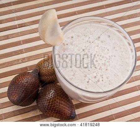 Fragrant Fresh Salak Snake Fruit Smoothie
