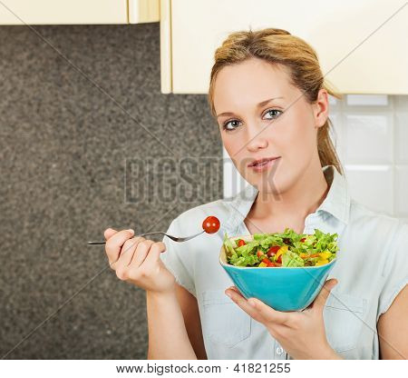 Young Woman With Salad