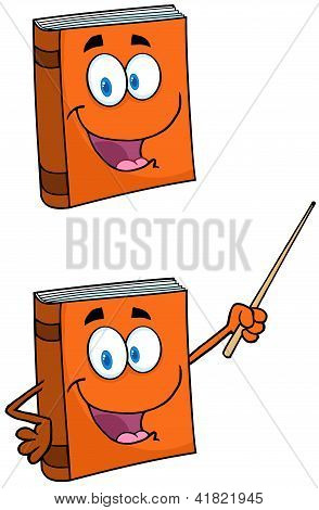 Text Book Cartoon Mascot Characters Collection