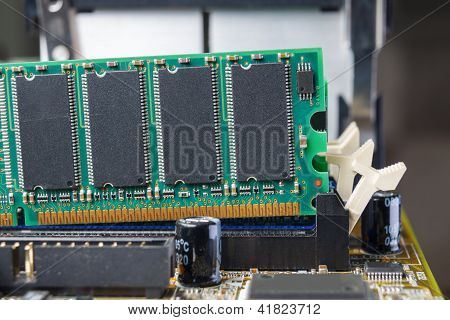 Memory module being removed from mother board
